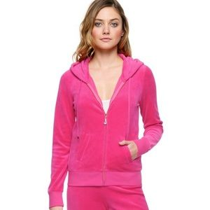 Juicy Couture velour Robertson track jacket